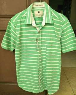Kemeja Salt n Pepper green strip
