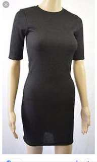 Orig topshop black ribbed bodycon