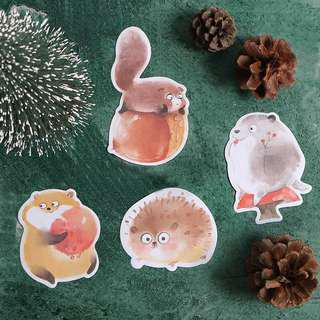 Little Fat Animals Sticky Notes (Set of 4)