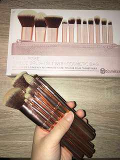 🆕 BH Cosmetics Metal Rose 11 Brushes