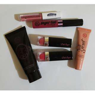 Assorted Makeup for Lips and Face