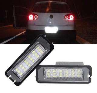 LED Number License plate lights for Volkswagen