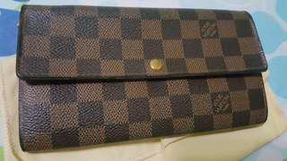 Authentic Louis Vuitton Damier Shara long wallet