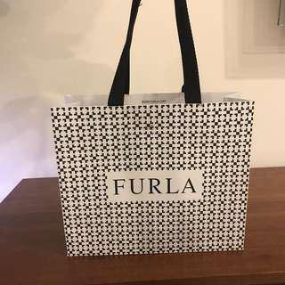 Furla branded paper bag