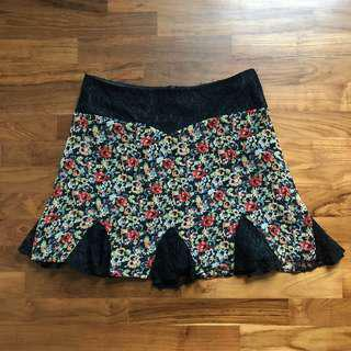 topshop floral lace skirt