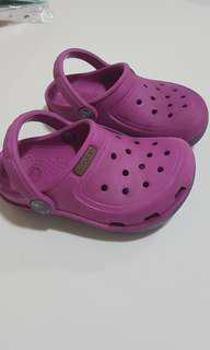 Crocs Sandals C7 (authentic) purple & cute