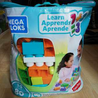 🆕💯 Mega Bloks Building Basics Stack & Learn