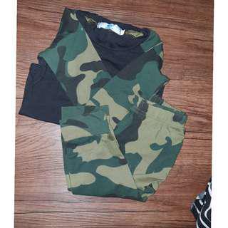Camo T-shirt and pants