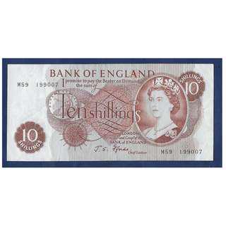 BANK OF ENGLAND Fforde REPLACEMENT Ten Shilling Banknote M59 199007