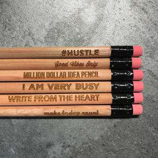 6pcs Hipster Swag Rubber Tip Pencil