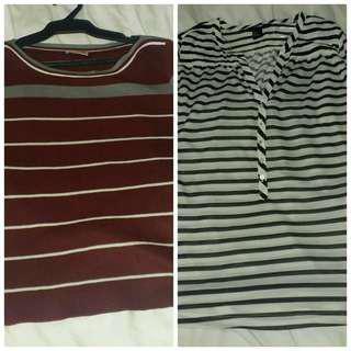 H&M and knitted 3/4 tops