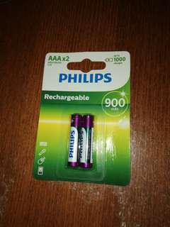 Philips AAA 900mAH Rechargeable Battery - coreless phone