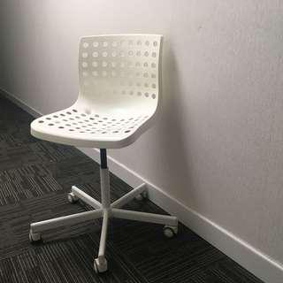 Ikea Sporren Swivel Office Chair white 有轆 可升降 可旋轉 公司辦公室椅
