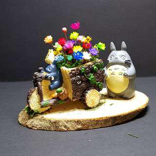 Totoro Tricycle Frozen Flower Terrarium (5)