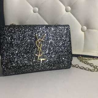 YSL Saint Laurent Glitter Sling bag