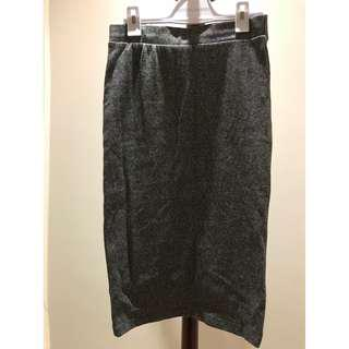 H&M Dark Grey Midi Skirt