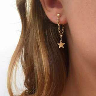 FREE SHIPPING Chain Star Earrings
