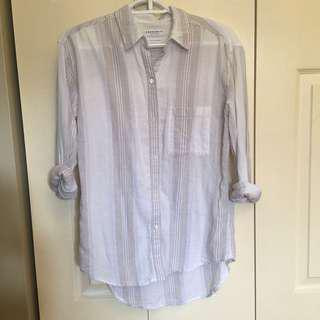 Aritzia Community Verita's Button Up Shirt