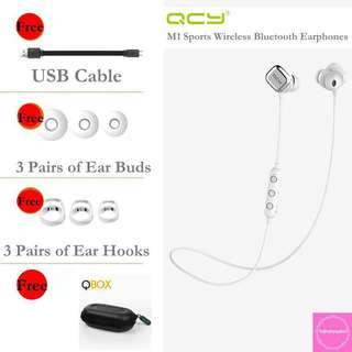 🚚 QCY M1 Pro Sports Earphones (White)