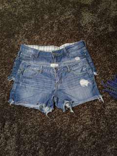 Denim shorts mango and aeropostale bundle