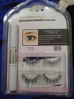 Dixhuitans Eyelashes #103 Kara Special Edition with fixer and essence 假睫毛套裝 睫毛膠水 睫毛精華