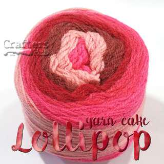 🚚 Lollipop yarn cake / Multicolor wool blended acrylic yarn cake / Variegated yarn