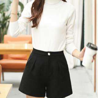 YesStyle High Waisted Black Shorts