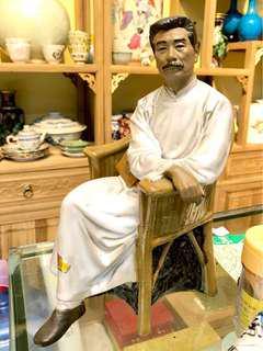 八十年代石湾陶瓷厂出品,鲁迅像