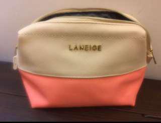 Laneige two tone comestic bag