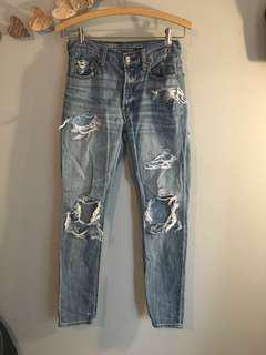 American Eagle Boyfriend Jeans - Size 00