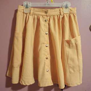 Costa Blanca A-line Skirt (Pink/Peach)