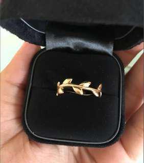 Tiffany&co olive leaf band ring