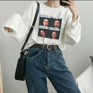oversized pullover long sleeve ulzzang tee