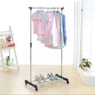 Brand new in box movable clothes pole hanger drying rack