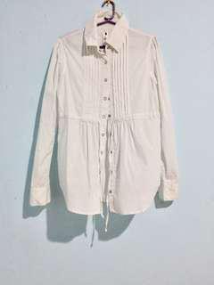 White Long sleeves shirt/dress