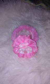 Bandana bunga pink