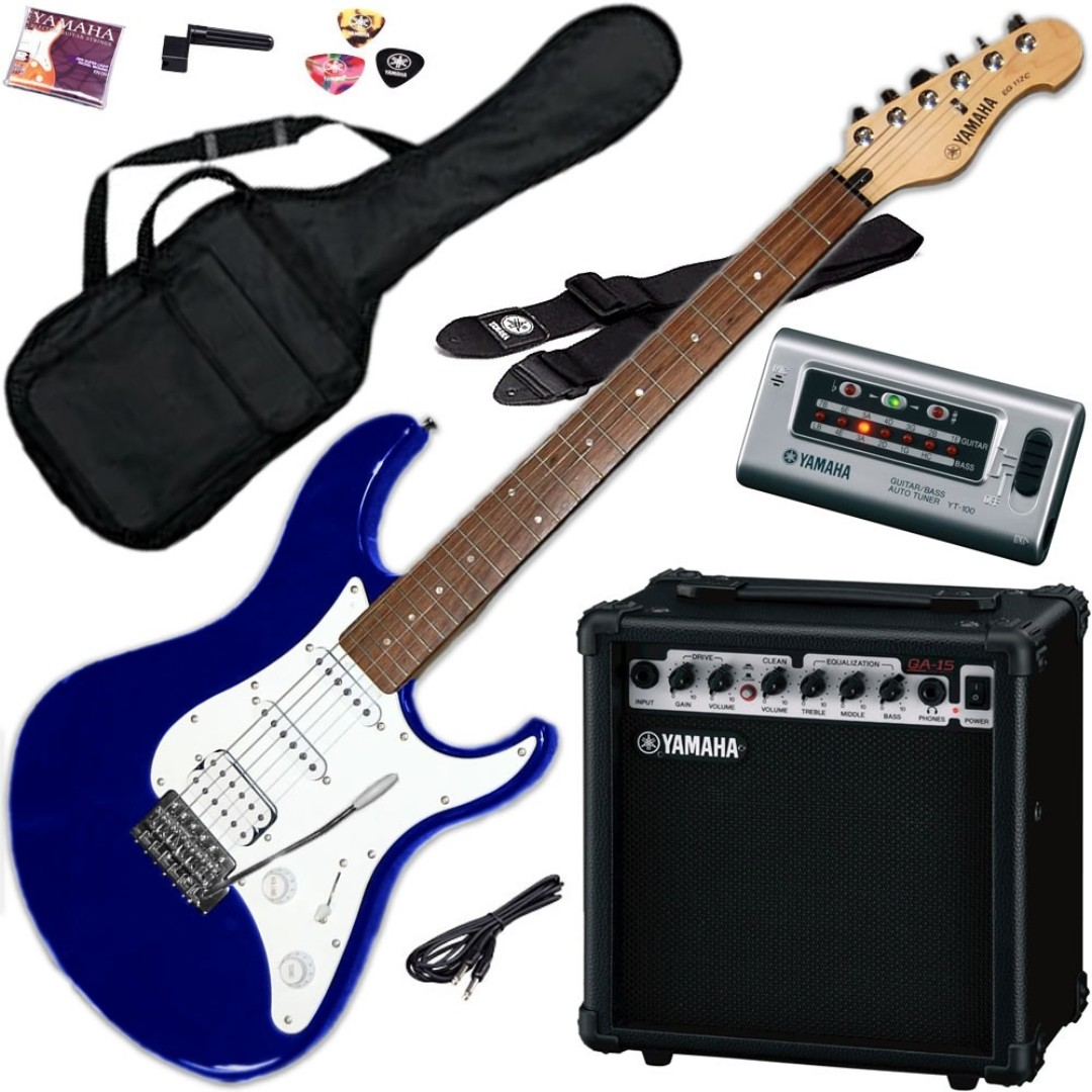 33 Off Yamaha Eg112gpii Gigmaker Electric Guitar Package Blue Limited Stock Clearance