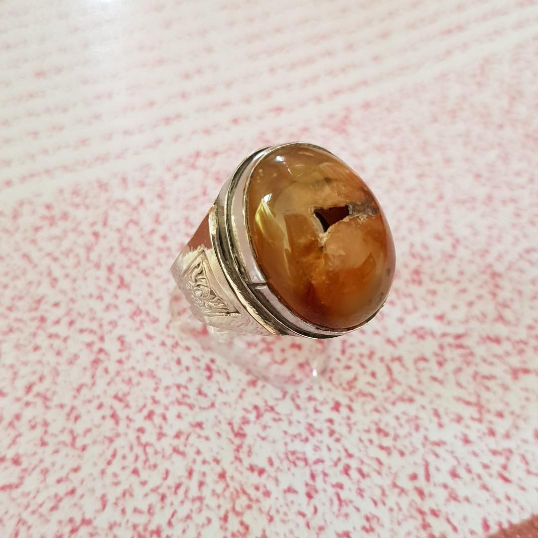 🌟 Agate Lobang Ring, Vintage & Collectibles, Vintage