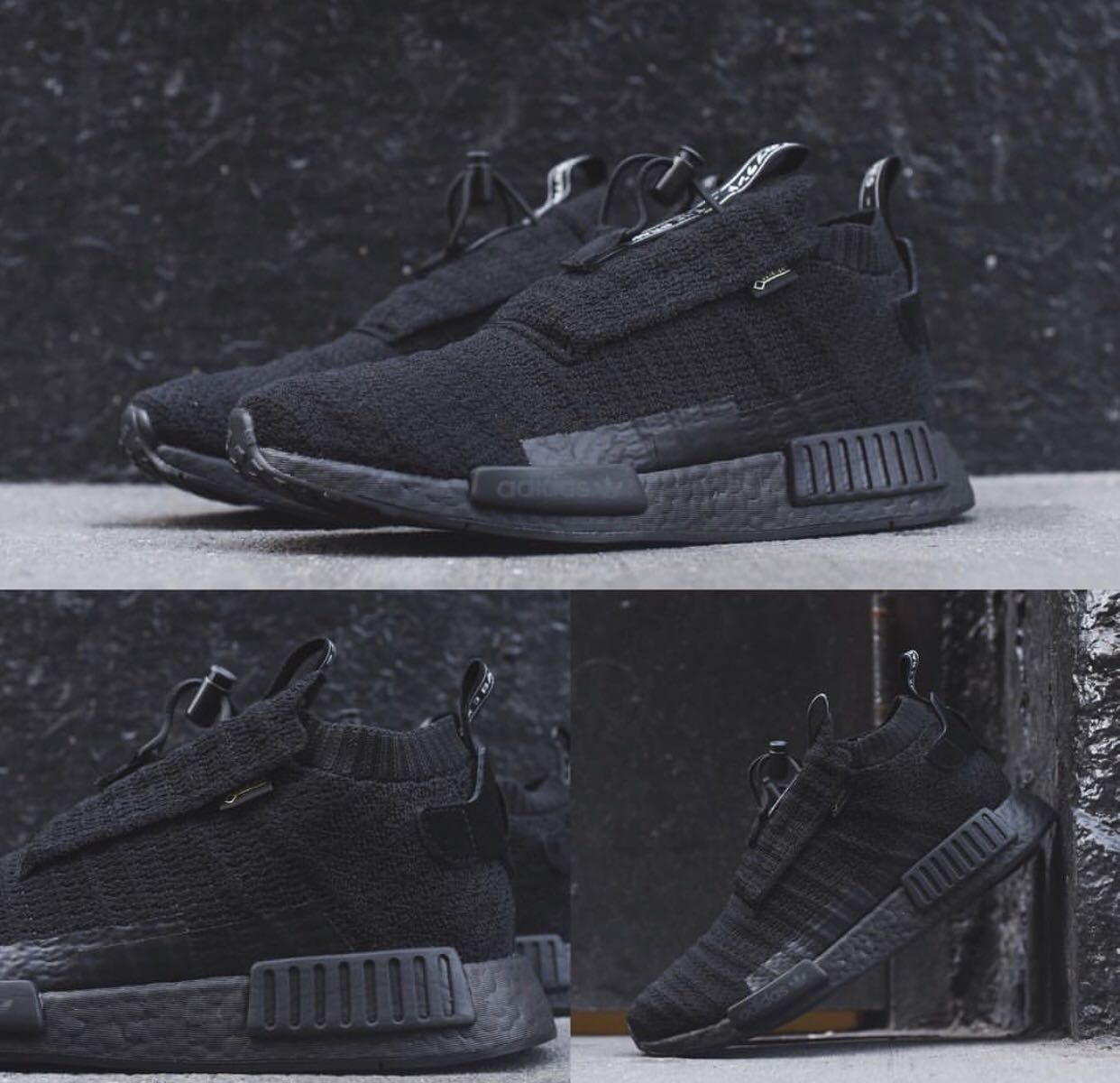 check out 402d3 be544 Adidas NMD TS1 Gore-Tex Primeknit Triple Black Shoe, Mens Fa