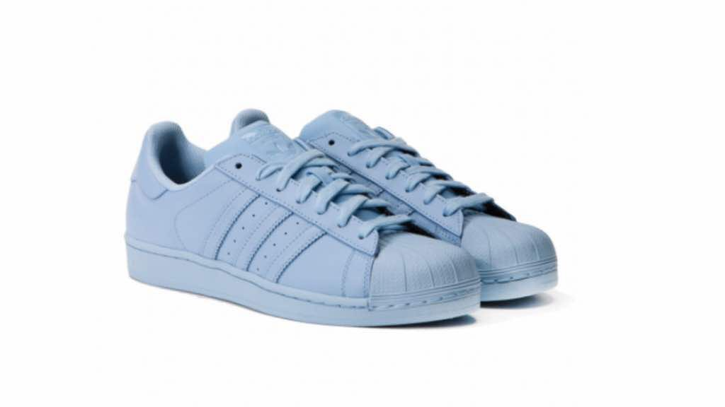 adidas superstar baby blue