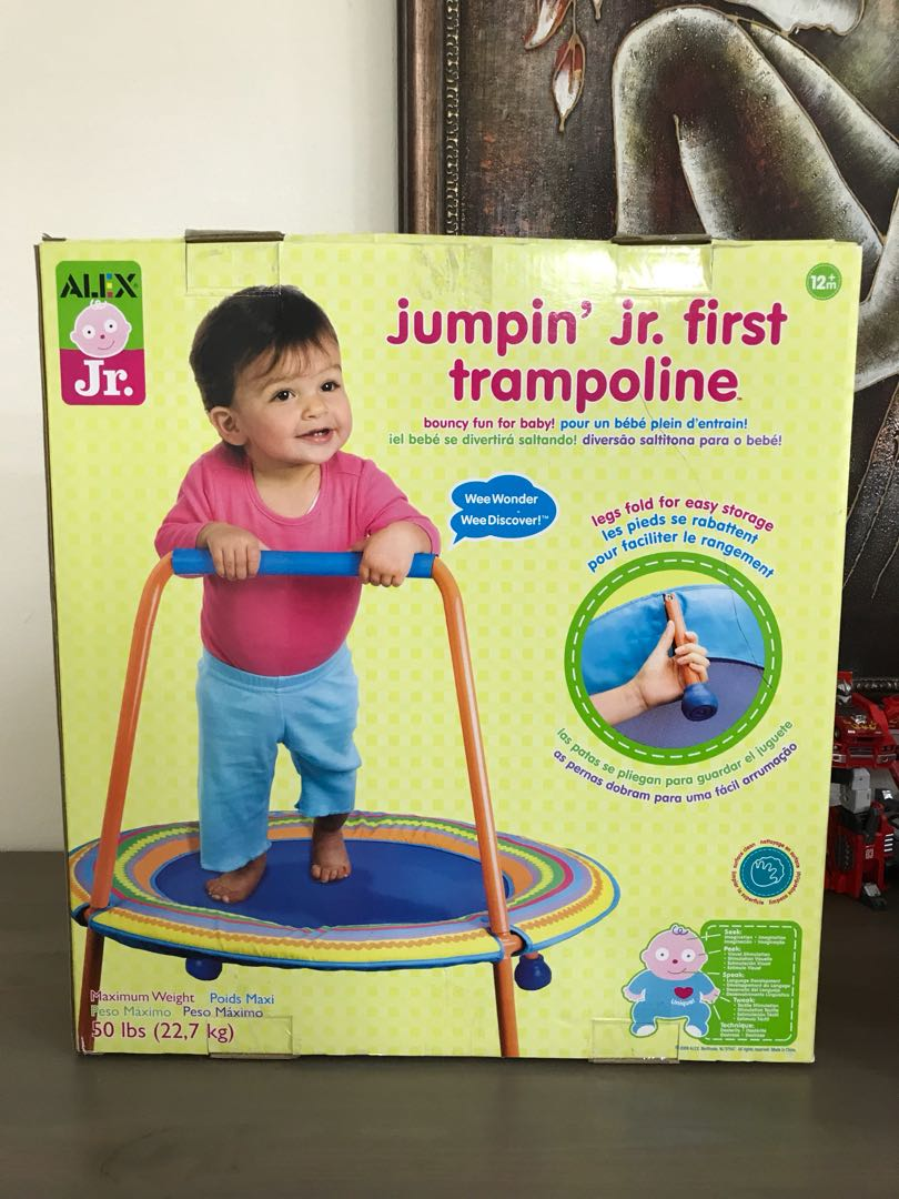b55912a9c Alex Jr. Jumping Jr. First Trampoline Baby toy