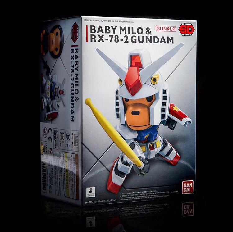 67d187388 BAPE BABY MILO® & RX-78-2 GUNDAM [SD EX-STANDARD] , Toys & Games, Bricks &  Figurines di Carousell