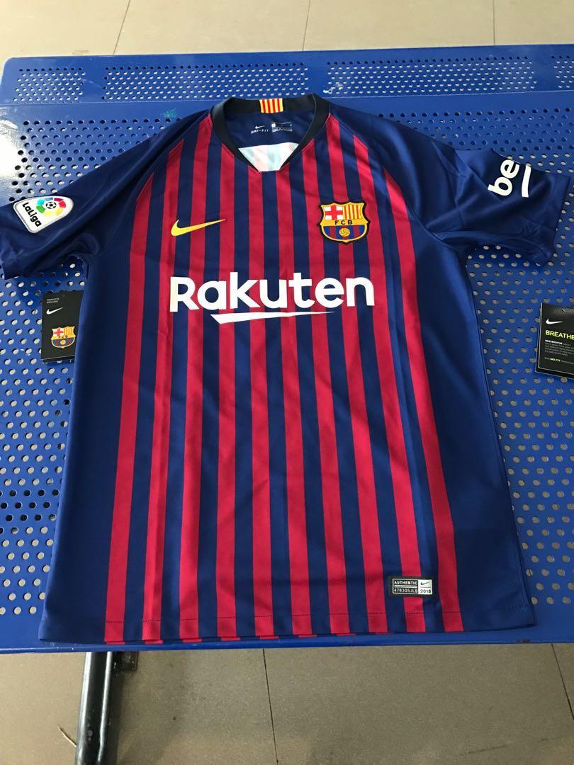d20d2bb8eba Barcelona Home Jersey Authentic 2018 2019