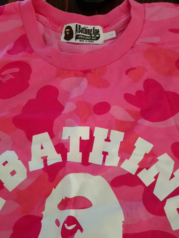 Bathing ape pink tshirt