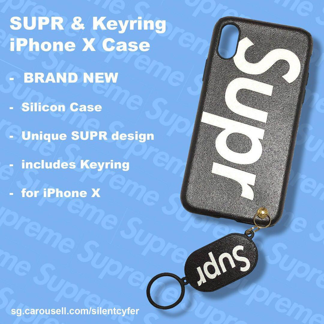 BRAND NEW Supr iPhone X Case with Keyring
