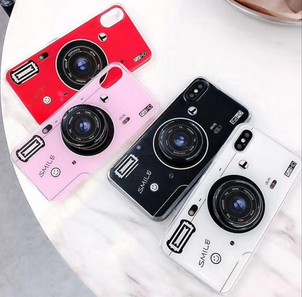 huge selection of a6a74 6c525 Camera pop socket stand phone case