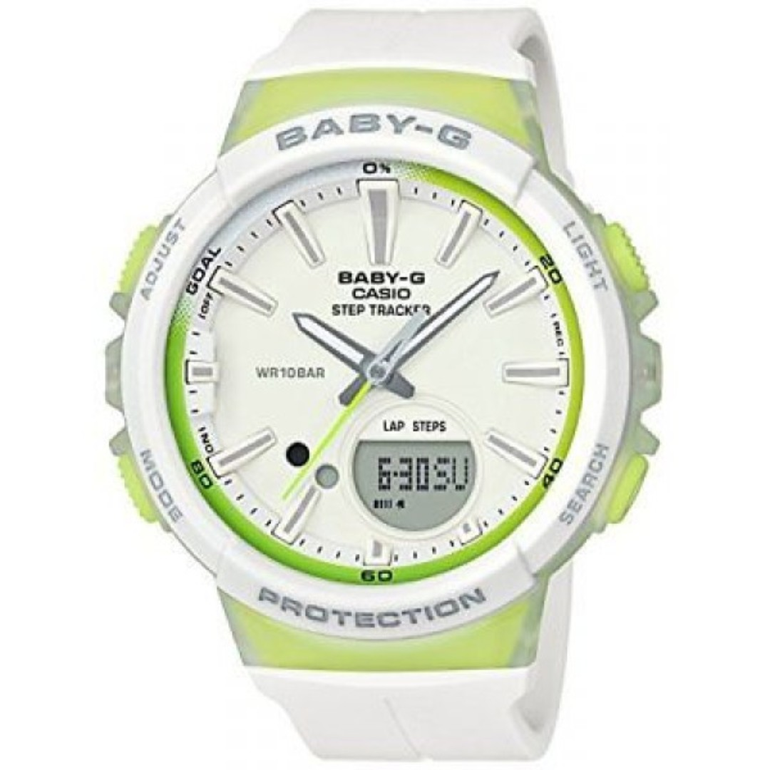 a330a443265e Casio Baby-G Step Tracker Green White Ladies Watch BGS-100-7A2 ...