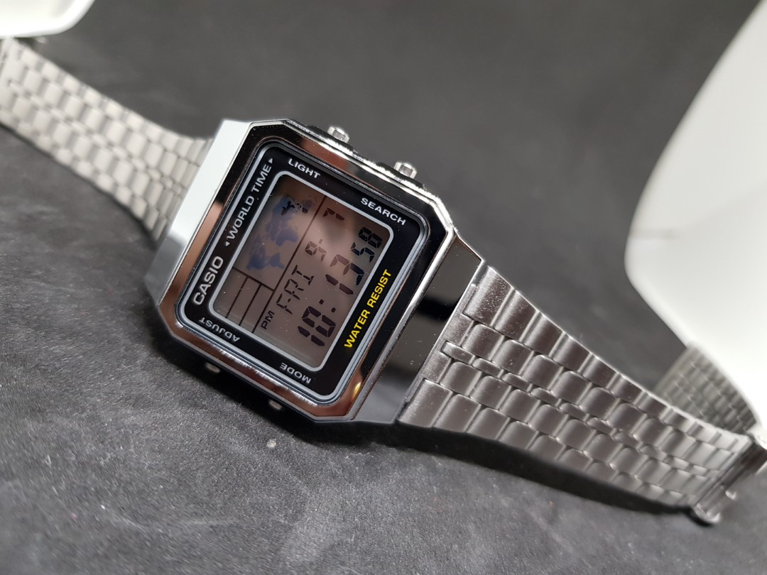 Casio Worldtime Digital Watch Mens Fashion Watches On Carousell World Time Ae 1200whd 1a Original