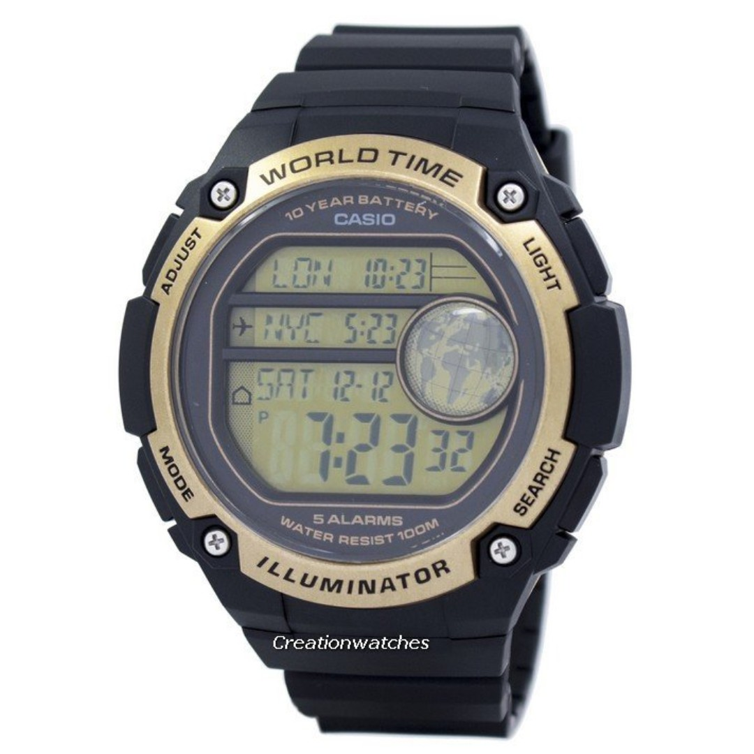48a053a34 Casio Youth Illuminator World Time Alarm AE-3000W-9AV AE3000W-9AV ...