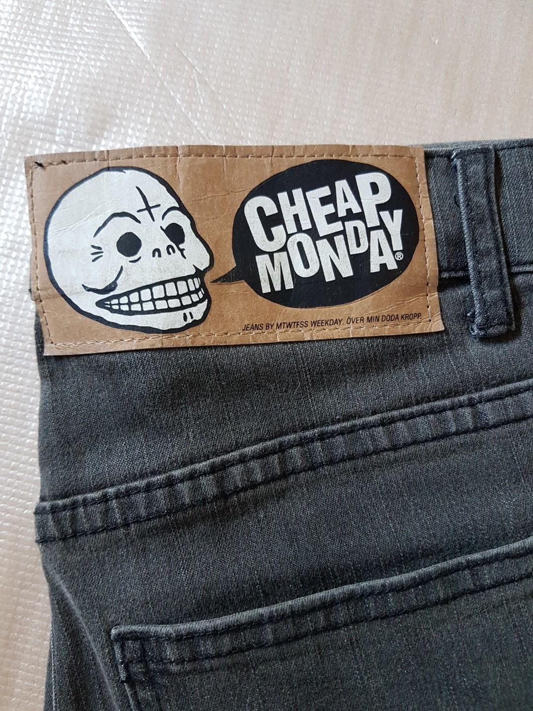 Cheap Monday Grey Tight 5249 45 min Stone Wash Size 30/34